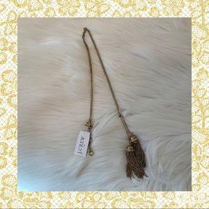 J.Crew Lariat Double Tassel Copper Necklace NWT